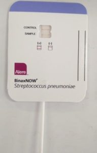 Positive pneumococcal urinary antigen test